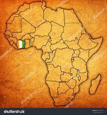 Ivory Coast Map Ivory Coast On Actual Vintage Political Stock Illustration