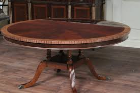 Round Formal Dining Room Tables 60 Round Flame Mahogany Dining Room Table By Hickory Chair Mount