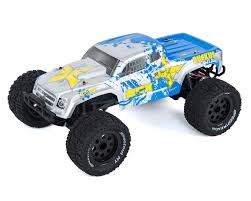 blue thunder monster truck videos ruckus 1 10 2wd rtr electric monster truck silver blue by ecx