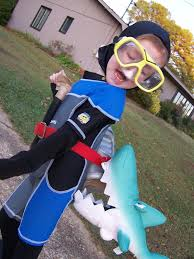 Shark Boy Costume Halloween Future Scuba Diver Scuba Boy Yikes Chased Water