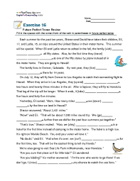 exercise 16 future perfect tense review 5th 7th grade worksheet