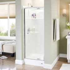 Home Depot Design Your Own Room Delta Lyndall 31 In X 66 In Semi Frameless Pivot Shower Door In