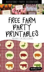 farm party free printables maxabella loves
