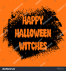 happy halloween witches sign text over stock vector 492019297