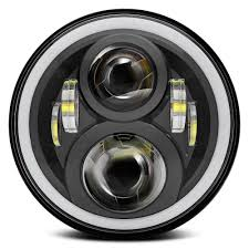 jeep headlights halo bakuis 7inch round project daymaker led headlights rgb halo for