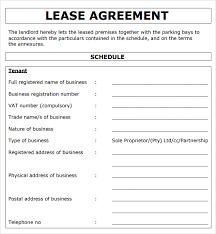 rental agreement form samples