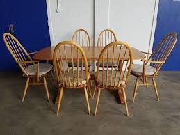 Ercol Dining Table And Chairs Ercol Dining Table 4 Ercol Chairs Set Light Elm Golden