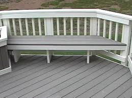 Benches On Division Trex Composite Deck Trex Decking Composite Decking Composite