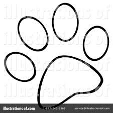 paw prints clipart 1097139 illustration by hit toon