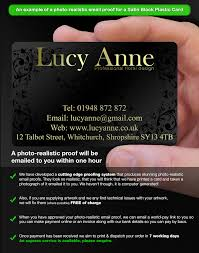 One Hour Business Cards Black Plastic Business Cards Printed Cpcards