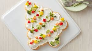 tree shaped crescent veggie appetizers recipe pillsbury