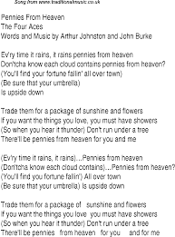 Top Bar Songs Top Songs 1937 Music Charts Lyrics For Pennies From Heaven