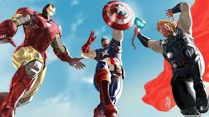 avengers man captain america and thor 4k hd desktop