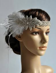 how to make a 1920s hairpiece 1920 s rhinestone flapper headband bridal head piece
