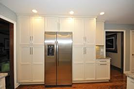 wood countertops flat front kitchen cabinets lighting flooring
