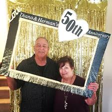 50th anniversary photo booth fun diy frame crafts by kandie