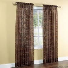low cost leopard print brown sheer curtain panel