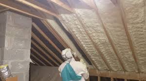 attic insulation picture framing spray foam insulation youtube