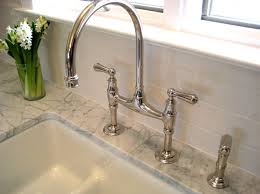 bridge faucets for kitchen kitchen fabulous rohl faucet with polished nickel country bridge
