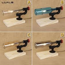 Retro Table Ls Luals Loft Led Retro Table L Creative 4 Colour Glass Bottle