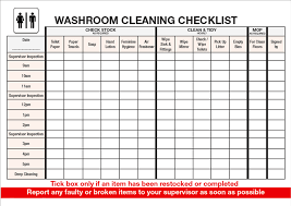 cleaning report template free checklist for washroom cleaning template templates at