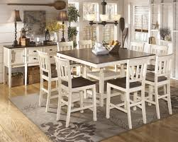 Square Dining Room Tables For 8 Chair Astonishing Counter Height Dining Tables For 8 By Room