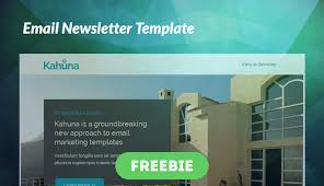 free email newsletter template responsive email newsletter