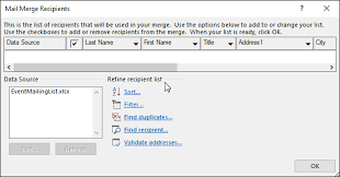 use mail merge to personalize letters for bulk mailings word