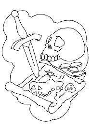 dessin à colorier de la carte de l u0027île aux trésors pirates