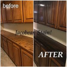 how to stain your cabinets darker diy stain on cabinets started with liquid sander