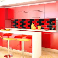red kitchen design ideas red tiles for kitchen backsplash exciting simple design likable