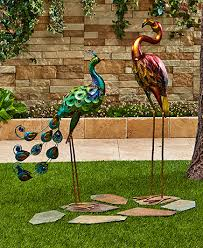 outdoor decor garden stakes and statues birdfeeders lakeside