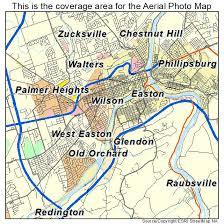 easton map aerial photography map of easton pa pennsylvania
