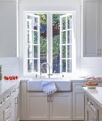 kitchen windows over sink farmhouse sink under push out kitchen windows transitional kitchen