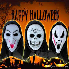 halloween costume mask scary vampire witch ghost face scream mask
