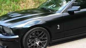 Black Mustang Gt500 Satin Black 2005 Mustang Gt Shelby Gt500 Clone Youtube