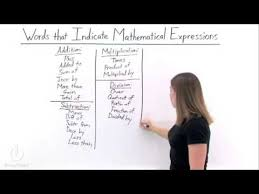 how do you write mathematical expressions from word problems