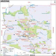 University Of Arizona Map Arizona Map Map Of Arizona Az Map