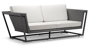 White Modern Outdoor Furniture by Weave Modern Outdoor Patio Sofa W White Cushions