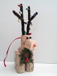 handmade wine cork reindeer christmas ornaments decorations 9 95