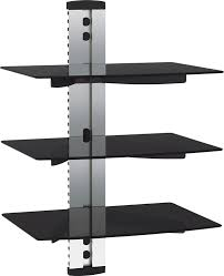 Tv Wall Mount With Shelf For Cable Box Vonhaus Floating Shelves For Sky Box Ps4 Or Xbox Amazon Co Uk