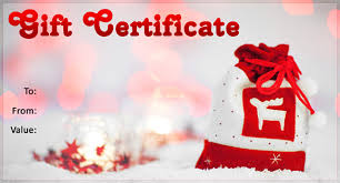 christmas gift certificate template free rainforest islands ferry