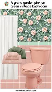 11 ideas to decorate a pink and green tile bathroom retro renovation