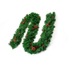 home decoration j2 7m thick garland with mixed pine