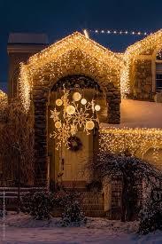 outdoor hanging snowflake lights christmas decorating with lighted snowflakes snowflake lights