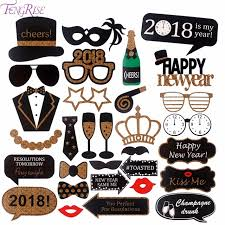 mustache party fengrise happy new year 2018 photobooth props diy photo props