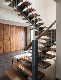 Banister Wall Impressive Center Stringer Staircase Contemporary With Black