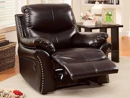 dark brown chenille recliner caravana furniture