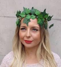 grecian headband green leaf poison headband headpiece festival grecian