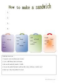 How To Make Worksheets 26 Free Esl Sandwich Worksheets